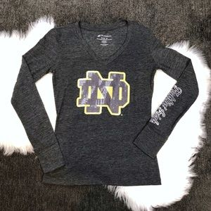Notre Dame Sparkly Long Sleeve Shirt Size Small
